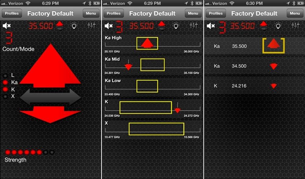 V1 Apple IOS Google Android Interface Radar Direct